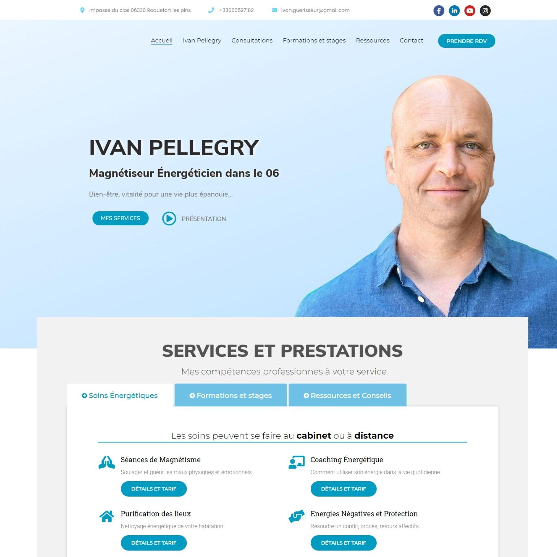 création site internet - screenshot - ivan-pellegry
