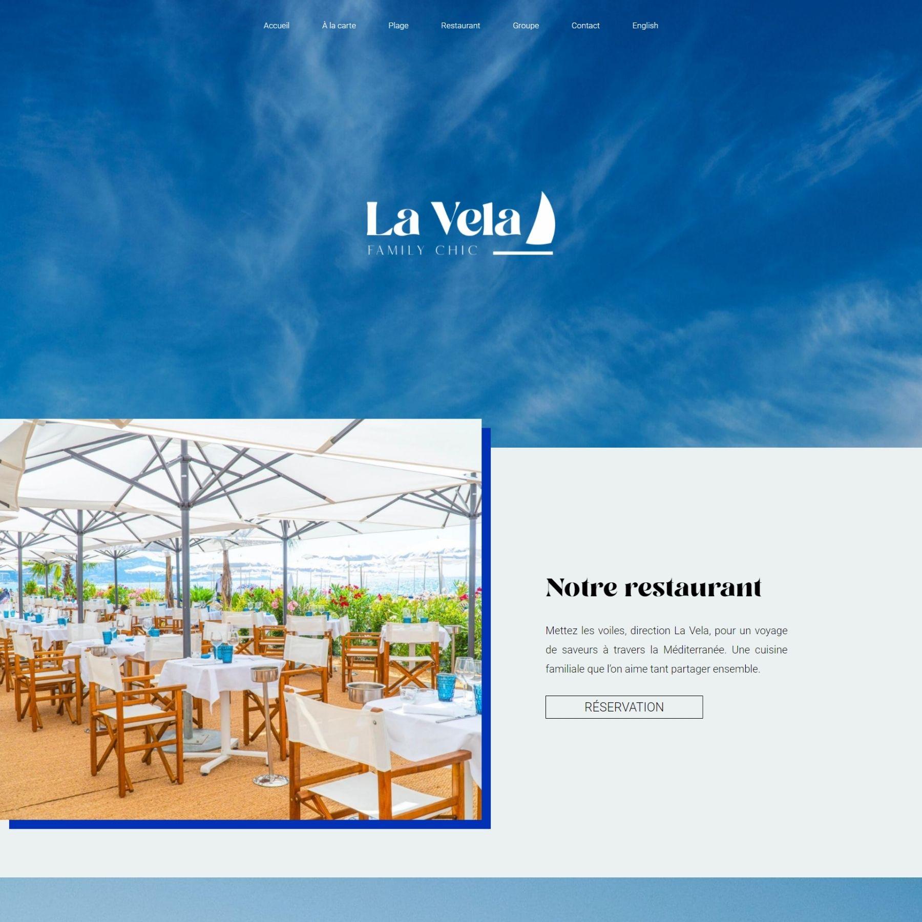 création site internet - screenshot - lavela plage