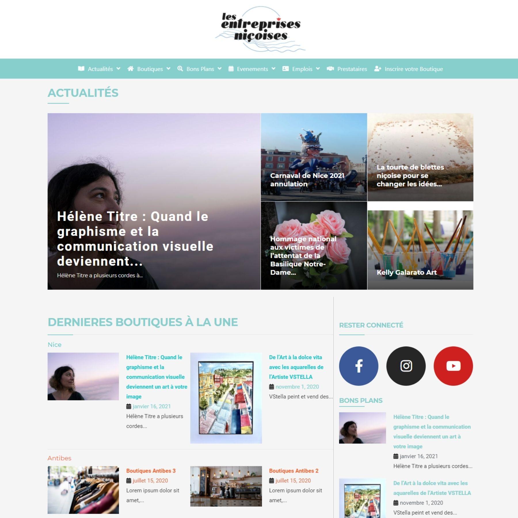 création site internet - screenshot - lesentreprisesnicoises